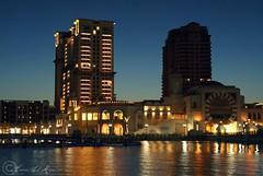 An Evining in the Pearl Qatar (qatari star) Tags: light sea building tower mall island star gulf shops pearl hamad doha qatar evining refliction        qatari