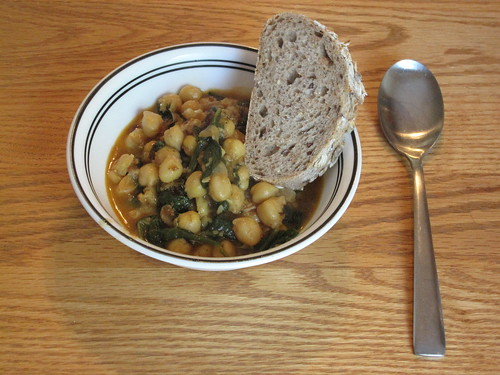 Finished Moorish-Style Chickpea And Spinach Stew