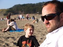 Eric & Jack (kshibano) Tags: sanfrancisco beach sunny bakerbeach