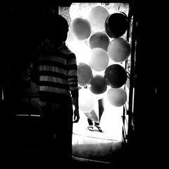 Celebration (stephieseye) Tags: bw boston balloons stephanie day114 iphone bostonist chappe 365project 111365 photogene yiip iphoneography hipstamatic 4252010 stephaniechappe