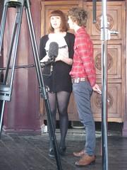 Matt up close with Kate Nash on Sony Ericsson's Pocket TV (Pocket TV) Tags: sonyericsson katenash pockettv mattedmondson