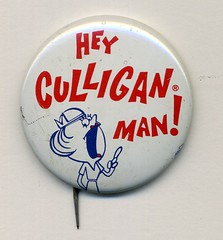 Hey Culligan Man button