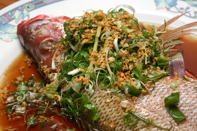 Steamed Red Snapper HK Style