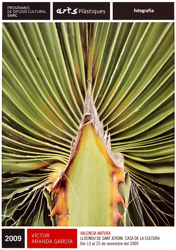 Cartel de mi exposición Valencia Natura