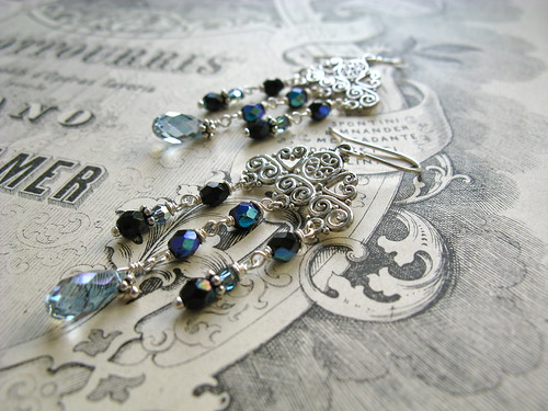 Mata Hari earrings in storm blue