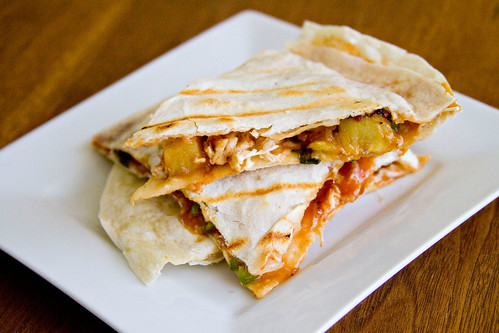 BBQ Chicken and Pineapple Quesadillas - 5