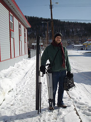 Dan Monceaux on the streets of Dawson City, Yukon 2008 (danimations) Tags: street snow canada yukon dawson danimations danmonceaux kiac