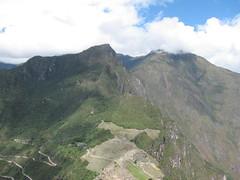machu picchu site & mountain from huayno picchu