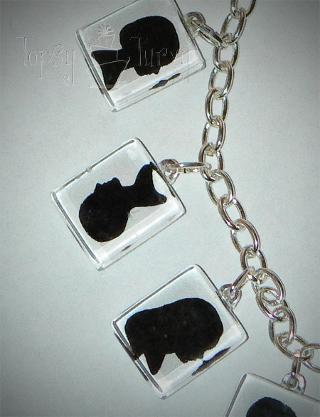 opps grandchildren silhouette jewelry bracelet
