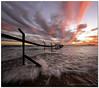 Fencing False Bay (Panorama Paul) Tags: sunset strand brokenfence nohdr sigmalenses nikfilters vertorama vanagram wwwpaulbruinscoza paulbruinsphotography nikond3100