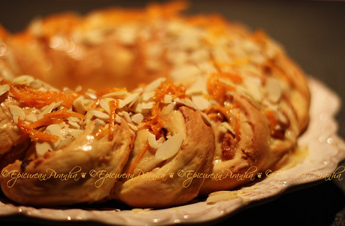 A Festive Apricot Orange Almond Bread ... by ©EpicureanPiranha