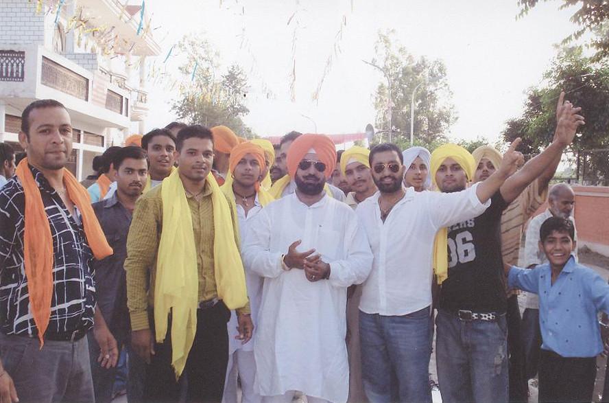 Punjab BJP Leader Sukhminderpal Singh Grewal at Khatkar Kalan - A Historical Village of  Shaheed-E-Azam Sardar Bhagat Singh Ji at Shahid Bhagat Singh Nagar District in the Indian state  of Punjab.