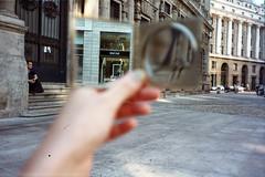 che cosa vedi (VeronicaSalvini) Tags: street city travel milan canon buildings milano flash 4 culture prima viaggi strade città analogic