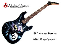 Kramer Baretta guitar airbrushed 8 ball graphic Knapp Kline 1987 American (eric_ernest) Tags: original musician music art classic beautiful museum vintage photo cool pointy photos guitar sale 1987 band guitars columbia musical instrument eddievanhalen 1986 halen rare kramer guitarist recording hardrockcafe airbrush guitarplayer pickups vibe paf patent humbucker guitarcollection airbrushed guitarcenter haightasbury guitarsolo madeintheus baretta madeintheusa vintageguitar guitarshow edwardvanhalen garphic vintageguitars guitarshows guitarcollections beautifulguitar rareguitar guitarphotos rareguitars kramerkonvention guitarcollecting vintagekramerguitars pafpickups abalonevintage vintagekramer