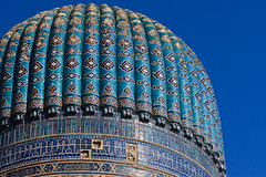 Uzbekistan-259 (Kelly Cheng) Tags: travel color colour building heritage tourism motif horizontal architecture design daylight colorful asia pattern outdoor mosaic muslim islam religion culture vivid sunny bluesky mosque dome getty silkroad colourful uzbekistan centralasia samarkand islamic bibikhanum samarqand silkroute bibikhanym gettysale pickbykc 92865056 gi1007