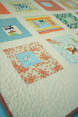 Sparks Baby Quilt - Detail
