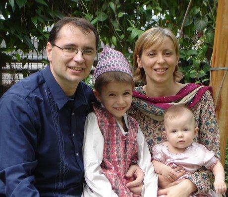 Florin Fodor împreună cu familia