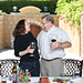 Kathleen Turner and John Komes at Flora Springs Winery