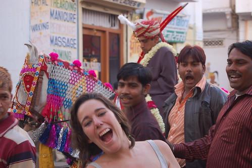 Festival fallera y petardos en Udaipur