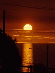 Solar Power, Adelaide (Rikx) Tags: ocean light sunset sea sky reflection nature water beautiful clouds gold australia powerlines adelaide goldenorb southaustralia soe heatwave solarpower scorcher wonderfulworld liquidgold goldsealofquality blazingclouds