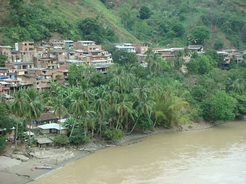 Tropical Puerto Valdívia, northern Colombia.