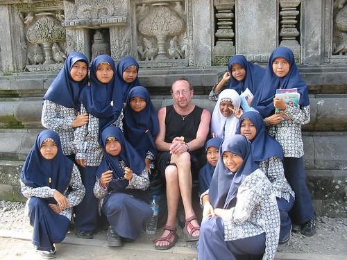 Ieder schoolmeisje wilde met mij op de foto...