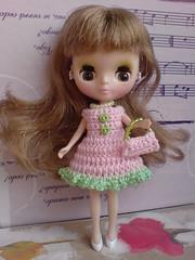 """Petite Blythe Crochet Dress """"Valentine Time"""" (6) (to USA)"""