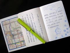 Dante on moleskine citybook of Turin (genius.is.patience) Tags: moleskine writing torino dante quotes turin italiano lamy citybook