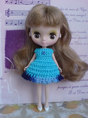 Petite Blythe Crochet Dress Colour Expression BLUE (to UK)