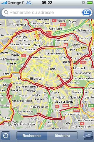 google map traffic