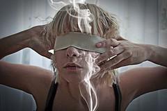 selfportrait (Tanya Bezrukih) Tags: girl blind smoke