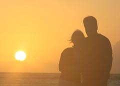 Sunrise (p-duke) Tags: sea portrait sunshine del self sunrise mexico carribean playa silouette cancun krissy timer carmen yuccatan