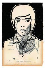 anatomia III (raquel schembri) Tags: old portrait man black art face fashion brasil illustration hair dead book design drawing raquel line page horizonte belo schembri
