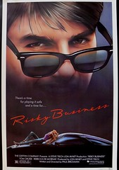 Risky Business movie poster (VisualStation) Tags: comedy movieposter tomcruise porsche 1983 warnerbros the80s riskybusiness joepantoliano tangerinedream davidgeffen movieposterart rebeccademornay paulbrickman geffenpictures
