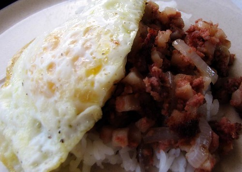Corned Beef Hash Egg and Rice