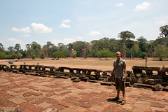Me at the temples of Angkor (Christian Haugen) Tags: travel architecture cambodia cambodian khmer culture backpacking angkor backpacker rtw vii bayon angkorthom aroundtheworld baphuon 175days jayavarmann