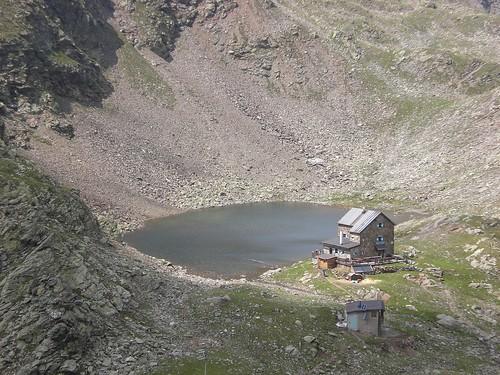 Die Flaggerscharten Hütte ist Ausgangspunkt für einige leichte Gipfeltouren