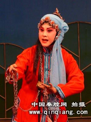 张宁演出秦腔传统剧《玉堂春·三堂会审》中苏三
