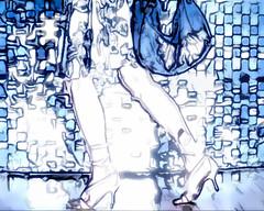 MOdeLOaCUaRElA (ALE BONITA) Tags: people fashion metal wall silver bag walking 1 clothing glamour women shoes highheels dress legs metallic gray lifestyle jewelry ring purse footwear whites studioshot females limbs nailpolish cosmetics adults toering stylish bluebackground midadult spikeheels midadultwoman 3035years 30sadult