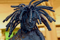 crazy hair (CeciliaKy) Tags: sculpture lego waltdisneyworld downtowndisney april2009 sassyweekend