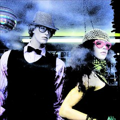 I'll stick with you baby for a thousand years !!! (Dominique Guillochon) Tags: fashion bowie mannequins posing bowtie posers windowdisplay dummy discoball davidbowie storewindowdisplay goldenyears illstickwithyoubabyforathousandyears dontletmehearyousaylifestakingyounowhereangel bowielikemannequin