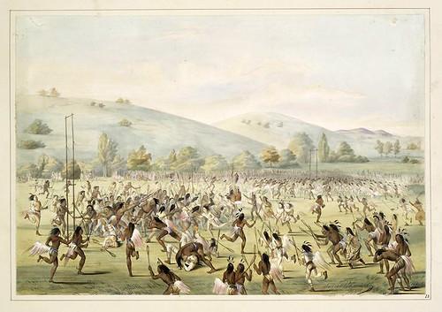 009- Juego de pelota-George Catlin 1845