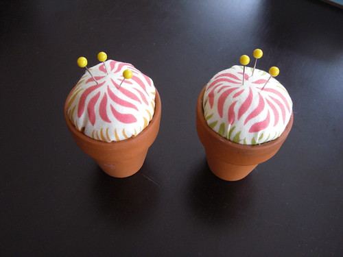 flower pot pincushions