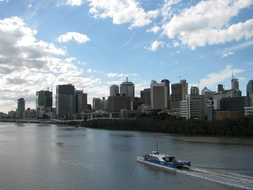 the cbd and 'city cat' boat
