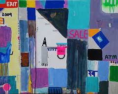 Mall.48x36 Inches.Acrylicks on canvas.2009 (harpreet thinking) Tags: life new city blue urban india abstract art love colors lines architecture wow mall painting construction asia paint metro market delhi indian paintings canvas celebration passion imagination local symbols atm visualart acrylics harpreet