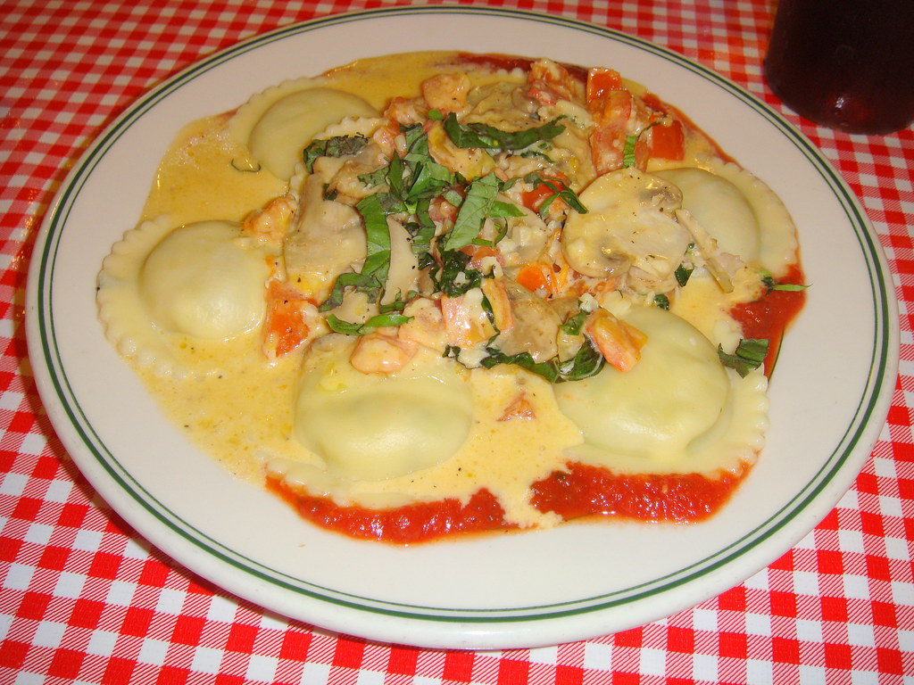 Jumbo Seafood and Lobster Ravioli