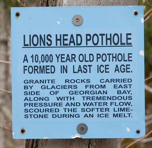Pothole Info - Bruce Trail