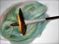 Spinning Wisteria Angora-Merino top