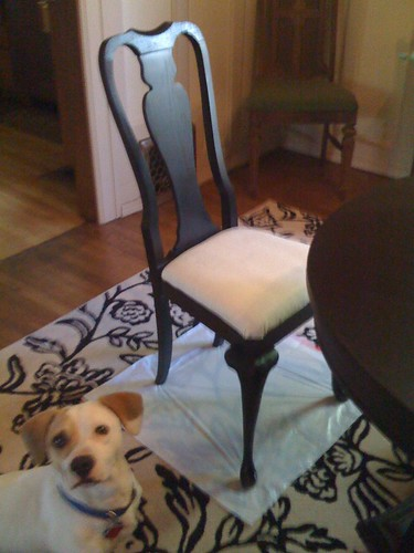 Pudge with end chair