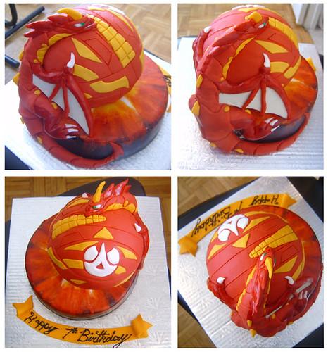 Bakugan Drago Cake